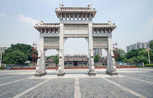 معبد اجدادی خاندان چچن در گوانجو