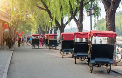 کالسکه در محله هوتونگ پکن