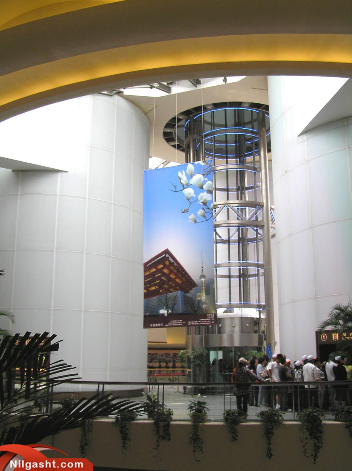 ورودی برج تلویزیون شانگهای