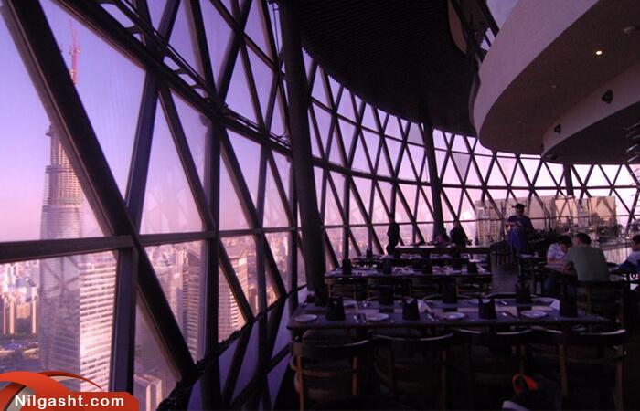 فضای داخلی برج تلویزیون شانگهای