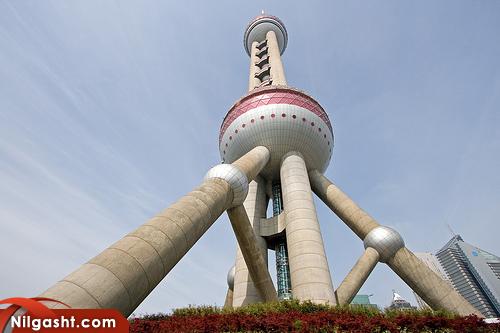 برج تلویزیون شانگهای در کشور چین