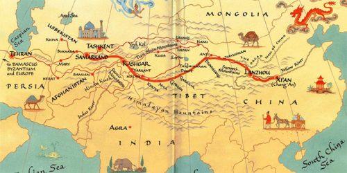 نقشه جاده ابریشم