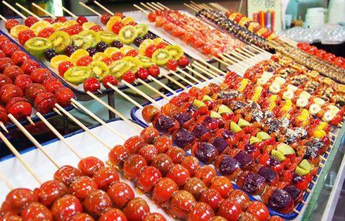 خوراکی های خیابان وانگ فوجینگ در پکن