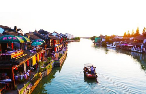 جوجیاجیائو شهر روی آب
