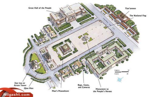 نقشه میدان تیان آنمن