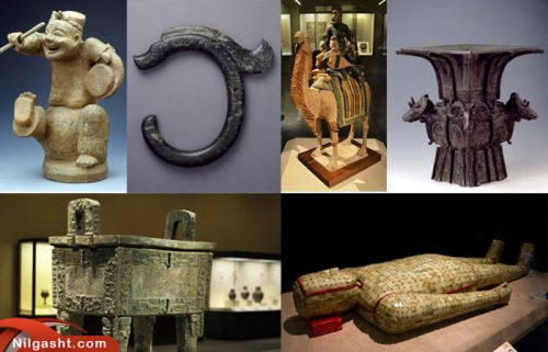 آثار موجود در موزه ملی میدان تیان آنمن