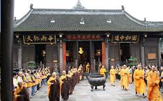 معبد ونشو در چین، بزرگ ترین و زیباترین صومعه چنگدو