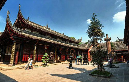 معبد ونشو در چنگدو چین