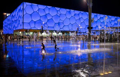 مکعب آبی، مرکز ملی ورزش های آبی پکن